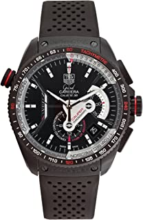 TAG Heuer Men`s CAV5185.FT6020 Grand Carrera Automatic Chronograph Black Dial Watch