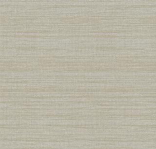 York Wallcoverings TT6303 Texture Portfolio Royal Linen Wallpaper, Pale Silver/Grey/Sand