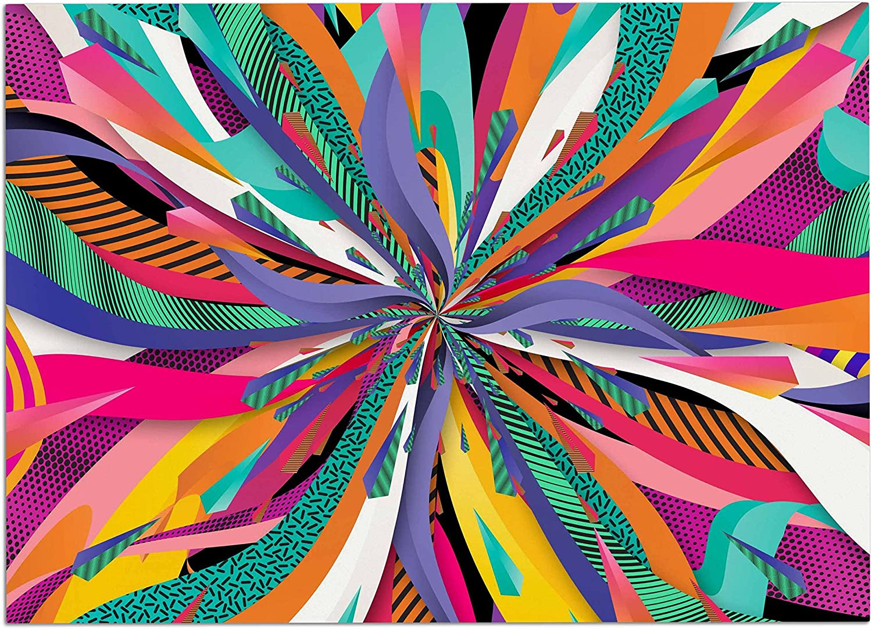 KESS InHouse DI1161ADM02 Danny Ivan Pop Abstract Multicolor Dog Place Mat, 24  x 15