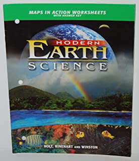 Maps in Action Worksheets with Answer Key (Modern Earth Science)