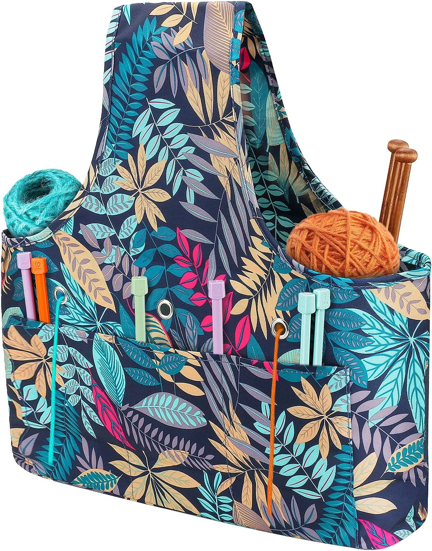 Knitting Tote Bag Large Sale item Capacity Yarn Organ Storage Austin Mall Globalstore