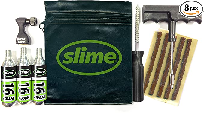 Slime 20240 Tire Repair and Inflation Kit, Tubeless Tires, Trailer & ATV/UTV Emergency Puncture Repair, Quick and Easy, Contains Mini Inflator