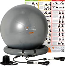 Exercise Ball Chair | Pilates Ball | Birthing Ball for Pregnancy, Balance & Yoga, 55cm / 65cm / 75cm Swiss Ball With Stabi...