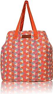 HaaVee® Astrid® Cotton Triple Compartment Jacquard Tote Bags | Handbags | Spacious Casual Bag
