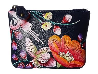 Anuschka Handbags Coin Pouch 1031 (Moonlit Meadow) Handbags