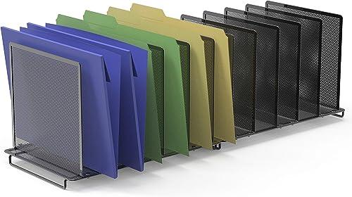 wholesale 2 Pack - SimpleHouseware 5 Section Upright popular online File Sorter Organizer, Black online