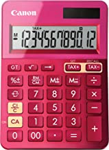 Canon Office Products 9490B018 Canon LS-123K Desktop Basic Calculator, Metallic Pink