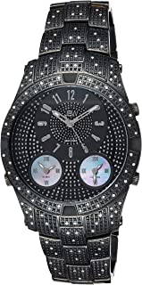 JBW Luxury Men's Jet Setter III 118 Diamonds Three Time Zone Swiss Movement Watch - J6348D
