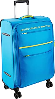 United Colors of Benetton Polyester 58 cms Blue Suitcase (0IP6SPO20M02I)