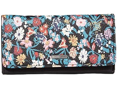 Roxy Hazy Daze Wallet (Anthracite Bouquet) Wallet Handbags