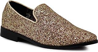 3c35cf02032 SPK04 Men s Vintage Glitter Dress Loafers Slip On Shoes Classic Tuxedo  Dress Shoes