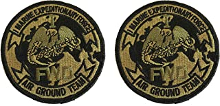 1st Marine Expeditionary Force OCP Patch with Black Border (Military Issued)-Veteran Owned Business-2 PACK