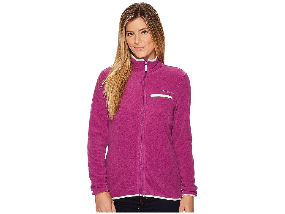 Columbia Mountain Crest Full Zip (Intense Violet/Ice Green) Women