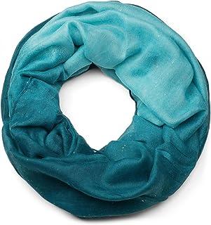 styleBREAKER raffinata sciarpa ad anello glitter con motivo colorato, sciarpa glitter, paillettes, sciarpa, foulard, donna...