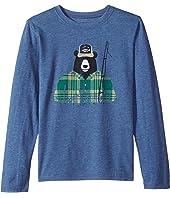 Life is Good Kids - Fisherbear Long Sleeve Cool Tee (Little Kids/Big Kids)