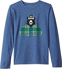 Life is Good Kids - Fisherbear Long Sleeve Cool Tee (Little Kids/Big Kids)