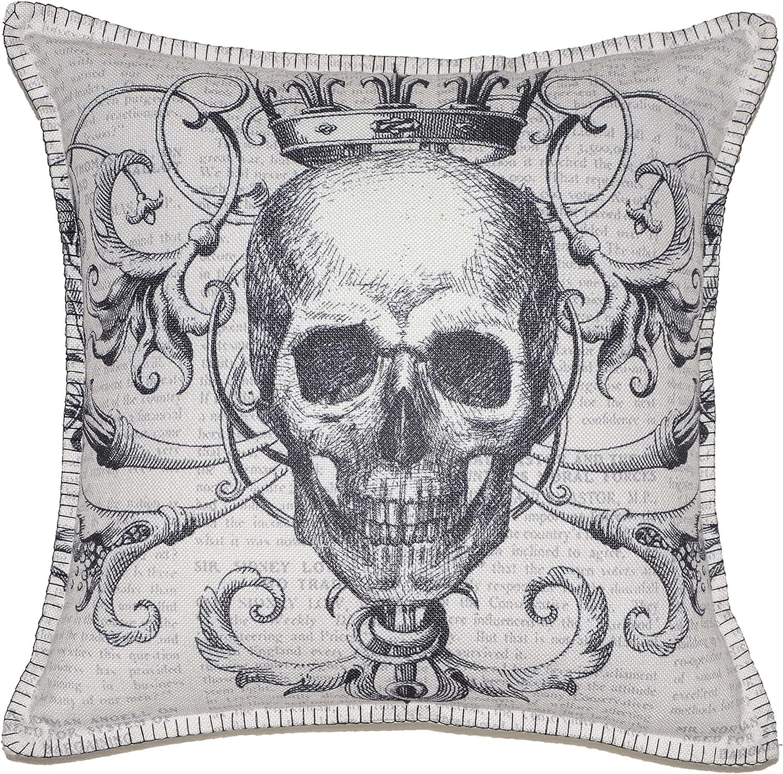 Ranking TOP2 Hahadidi Halloween Pillow Covers Ranking TOP3 P 18x18 Printed Skull