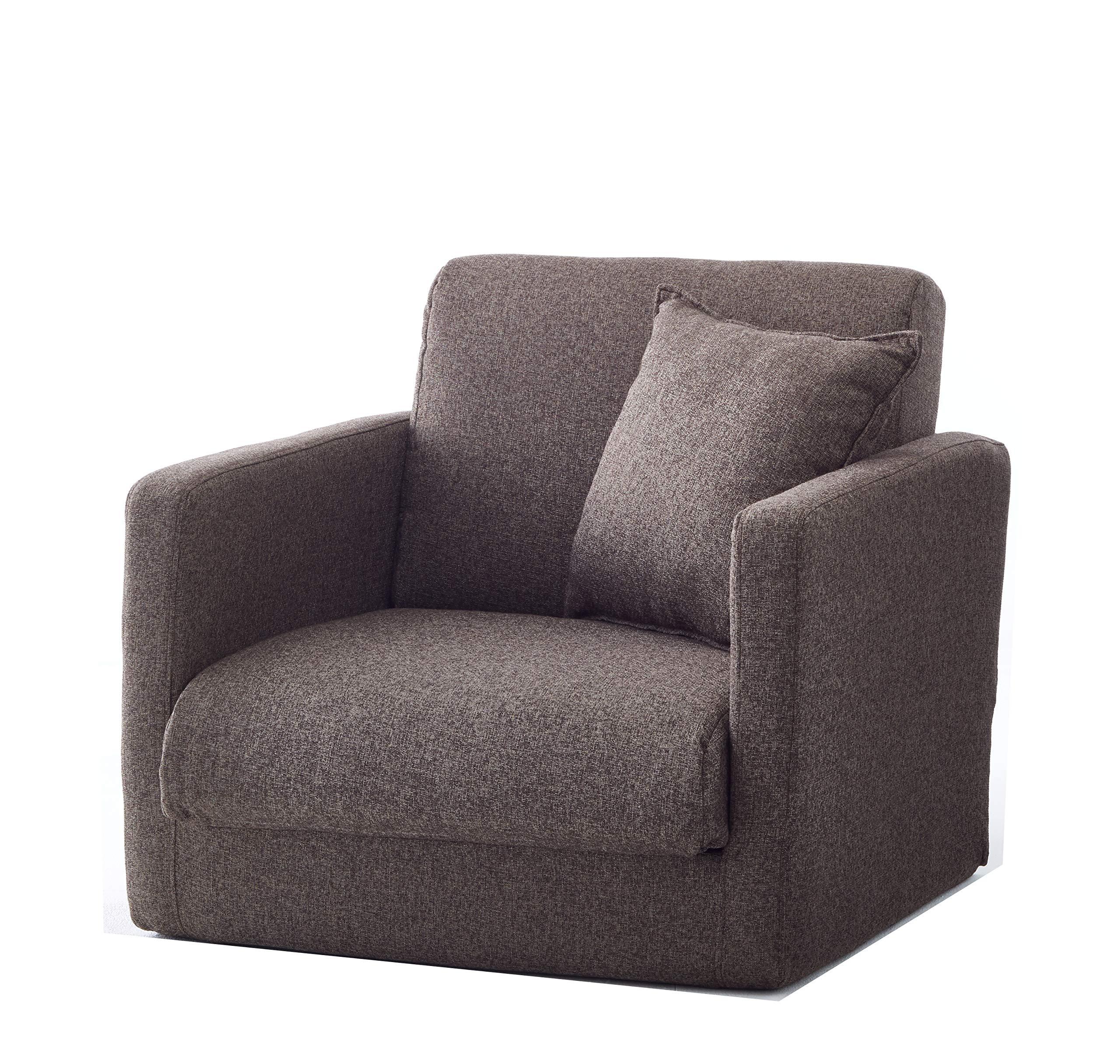 生活雑貨 ソファーベッド ソファー 脚を伸ばしてゆったり寝れるソファーベッド 3つ折りコンパクトタイプ (1P, ブラウン)