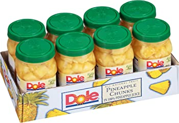 8-Pack Dole Pineapple Chunks 23.5 Ounce Jars