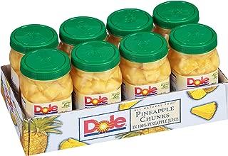 Dole Pineapple Chunks, 23.5 Ounce Jars (Pack of 8)