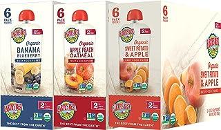 Earth's Best 2段 婴孩食品,果子混合品种组装,18包