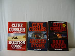 Author Clive Cussler Three Book Bundle Includes: Sacred Stone, Dark Watch,Skeleton