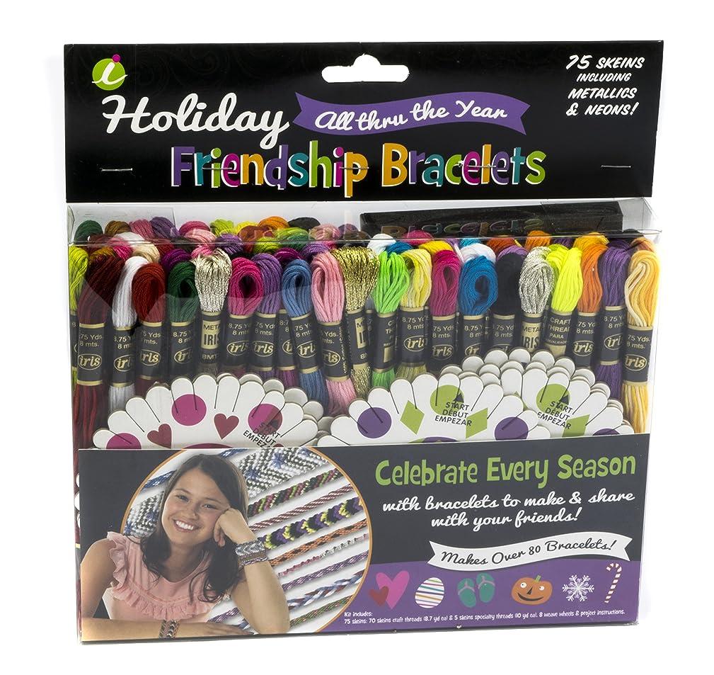 IRIS USA, Inc. Iris Holiday Friendship Bracelet Thread Party Pack Kit-