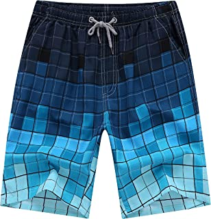 Uhhome Fashion Summer Men's Beach Pants Men's Printing Quick Dry Shorts Swim Trunks Men's Sport Shorts Casual Half Short Pants Surfing Swimwear Thin Men's Trousers Plus Size