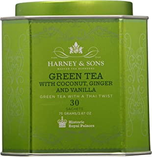 Harney Sons Green Tea with Coconut Ginger and Vanilla 30 Sachets 2 67 oz 75 g