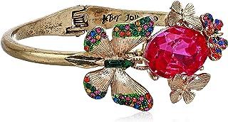Betsey Johnson Butterfly Hinged Bangle