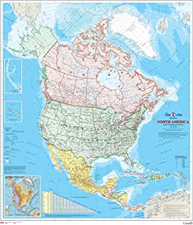 North America Wall Map - Atlas of Canada - 34