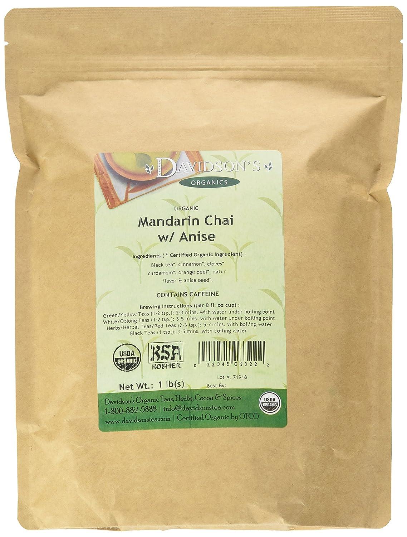 Davidson's Organic Tea Bulk Mandarin Super sale W Attention brand Chai 16-Ounce Anise B