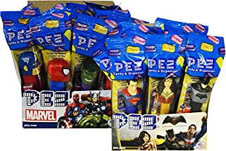 PEZ Marvel Assortment + DC Comics Pez Dispensers