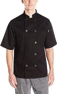 Chef Code Mens Short Sleeve Unisex Classic Chef Coat Chef's Jacket