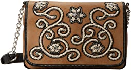 M&F Western Floral Stitch Medium Flap Shoulder Bag