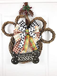 Grapevine Dog Paw Wreath | Beware of Dog Kisses |