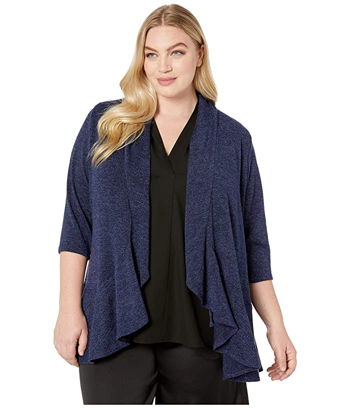 Kiyonna Love Story Cardigan (Sparkling Sapphire) Women's Sweater