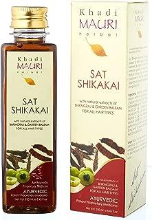 Khadi Mauri Maha Bhringraj Hair Oil & Natural Shikakai Sat Shampoo Combo Pack Of 2 Ayurvedic Herbal 250 Ml Each