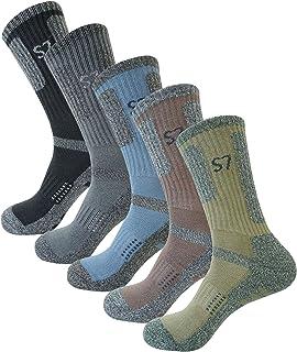 SEOULSTORY7 5pack Men's Climbing DryCool Cushion Hiking/Performance Crew Socks