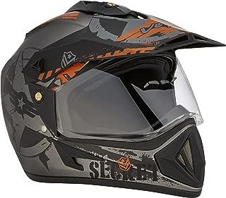 Vega Off Road Secret Full Face Helmet (Dull Anthra Black, L)