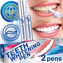 Teeth Whitening Pen Effective Teeth Whitener Painless Gel Whitening Pen Easy Tooth Whitening Pen Beautiful White Smile Safe 35% Carbamide Peroxide Gel Natural Mint Flavor 2 PackInstant Teeth Pens