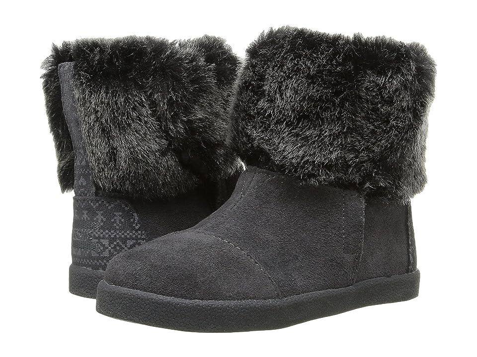 TOMS Kids Nepal Boot (Infant/Toddler/Little Kid) (Castlerock Grey Suede/Faux Fur) Girls Shoes