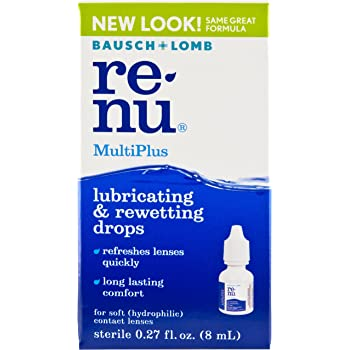Amazon.com: Bausch + Lomb Renu Multiplus Lubricating And Rewetting Soft Eye Contact Lens Drops, 0.27 Oz: Health & Personal Care