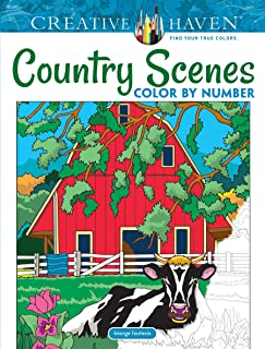 Creative Haven Country Scenes Color by Number Coloring Book (Creative Haven Coloring Books)