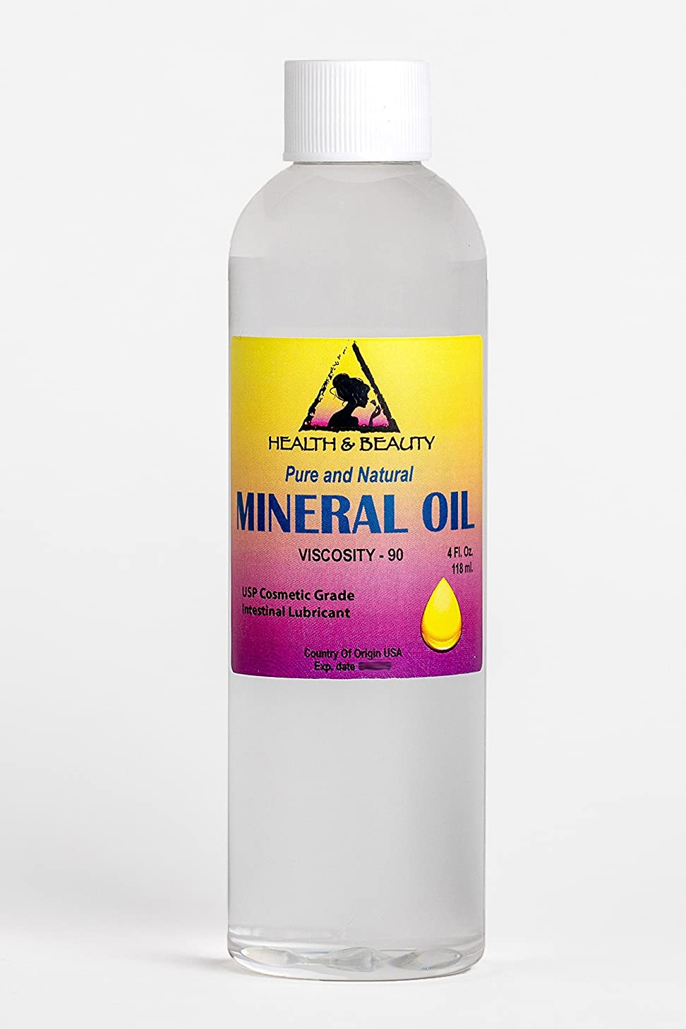 Mineral Oil 90 Viscosity NF USP Grade Intestinal Lubricant 100% Pure 4 oz