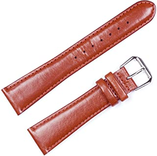 deBeer Smooth Genuine Leather Mens Watch Band/Strap | Multiple Colors Available | Sizes from 6mm to 22mm