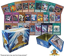 500 Assorted Yugioh Cards Including Rares - Holo Rare Cards! Includes Empty Collector Yugioh Tin! Golden Groundhog Treasure Chest Storage Box!