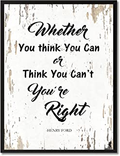 SpotColorArt Whether You Think You Can Or Can't You're Right Framed Canvas Art, 13