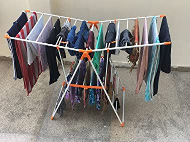 Magna Homewares Robusto Heavy Steel Cloth Drying Stand/Clothes Dryer Stands/Laundry Racks/Cloth Drying Hanger for Balcony/Ind