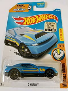 Hot Wheels 2017 Factory Sealed Set Exclusive Muscle Mania D-Muscle (Blue)